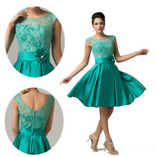 Sexy VINTAGE Lace Swing Bridesmaid Mother Short Evening Party Gowns Prom Dresses