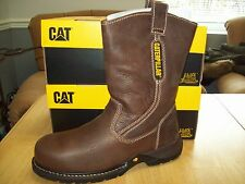 "Caterpillar Men's Gladstone Steel Toe 10"" Pull-On Safety Boot #P89726 Wide Oak"