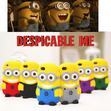3D Cute Despicable Me Minion Case SILICONE Mobile Phone Cases Cover Protector