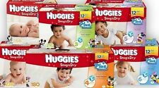 Huggies Snug and Dry Diapers, Size 1 2 3 4 5 6 PICK ANY SIZE, NEW |NO SALES TAX|