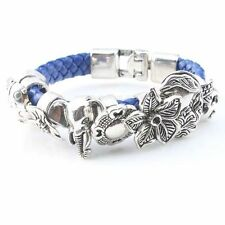 Wholesale 8 Styles Vintage Silvery Charms Alloy Spacer Beads Fit Belt Bracelet