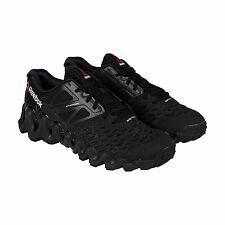 Reebok Mens ZigTech Big N Tough Black White Synthetic Athletic Running Shoes
