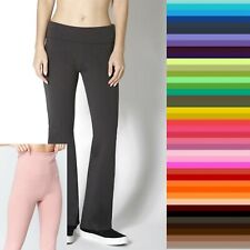 WHIMSY Slim Fitness Foldover QUALITY YOGA Heavy Thick Flare Pants S,M,L