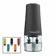 Wolfgang Puck 2-in-1 Automatic Salt & Pepper Mill Grinder w/ Adjustable Grind