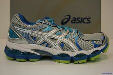 NEW Asics Gel Nimbus 16 Women's Running Shoes GREY/TURQUOISE NEW IN BOX