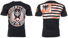 Archaic AFFLICTION Mens American T-Shirt USA FLAG Fighter Biker UFC M-3XL $40 b