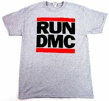 RUN DMC JMJ Retro T-shirt New Rap Hip Hop Tee Gray Adult Sizes S,M, L, XL,2XL
