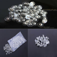 2015 New Allergy Free Green Silicon Earring Back Stopper 1X 50Pcs Silver /Gold