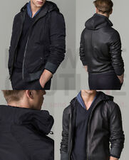 MASSIMO DUTTI (ZARA GROUP) SS15 HOODED REVERSIBLE JACKET NAVY REF.3334/304