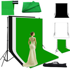 Photography Studio Video Lighting Cotton 3x3.6m Muslin Backdrop Background Stand