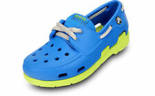 Boys Crocs Ocean/Citrus Lace Up Shoes Style BEACH IN BOAT
