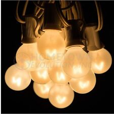G30 White Pearl Outdoor Patio Globe String Lights (100', 50' and 25' Lengths)
