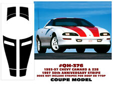 QH-376 1993-97 CAMARO & Z28 COUPE RACING STRIPE - 30TH ANNIVERSARY - NO ROOF
