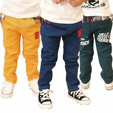 boys jeans denim regular Straight Leg fit trousers casual pants Size 3-8 Years