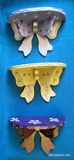 Shabby Cottage Chic Painted Wood Wall Shelf with Bow - 3 Available