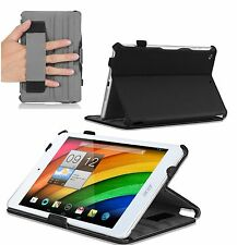 Premium Multi-angle Fitted Stand Case for the Acer Iconia A1-810 7.9 + handstrap