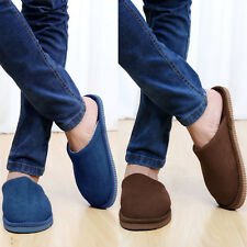 Fashion Mens Winter Warm Soft Cotton Shoes Indoor Home Office Casual Slippers
