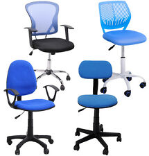 Blue Study Task Ergonomically Chair Midback Computer Seat Girl Kid's Room Gift