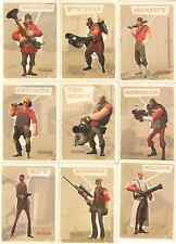 Team Fortress 2 TF2 Trading Cards Sniper Spy Soldier etc