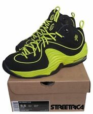 "Nike Air Penny II LE 535600-003 ""VOLT"" Black Cyber Shoes Mens Sz"