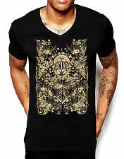 Distinkt Youth All Seeing King Deep V Neck T Shirt Mens Illuminati Holiday 606