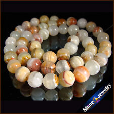 """8mm Natural Gemstone Jewelry Multi Color Lace Agate Round Loose Beads Strand 15"""""""