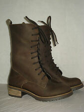 ANFIBIO donna 37-38-39-40-41 BOOTS BEIGE/MARR 100% VERA PELLE  MADE ITALY -ROCK-
