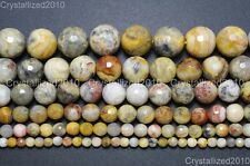 Natural Crazy Lace Agate Gemstone Faceted Round Beads 4mm 6mm 8mm 10mm 15.5''