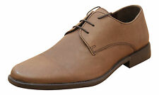 Mens Brown Real Leather Lace Up Formal Casual Wedding Shoes New Office Loafers