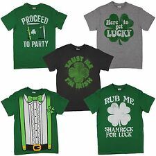 St. Patrick's Day Irish Green T-shirt for Men Party Lucky Shamrock Tuxedo Tee