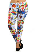 -[PLUS SIZE] Comic/Cartoon Inspired Printed Fashion Leggings (EX2496)