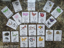 SYMBOL cards, Makaton and Early Years learning flash cards, 9cm x 6cm rounded