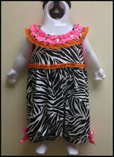 Girls / Toddler Zebra Print Bubble Outfit - Sizes 0/3mth, 3/6mth, 6/9mth