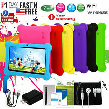 "Kid's Tablet PC 7"" Android 4.2 Case Bundle Dual Camera 1.2Ghz Wi-Fi Bonus Items"