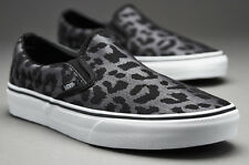 VANS Classic Slip-On LEOPARD Womens Shoes (NEW) Herringbone Black FREE SHIPPING!
