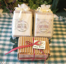 BAY RUM, BABY POWDER or BIRCH OIL: 3 Choices of Natural Handmade LOAF Style Soap