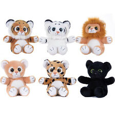 "POSH PAWS WILDLIFE SPARKLE EYES 7"" SOFT PLUSH TOYS LION TIGER PANTHER"