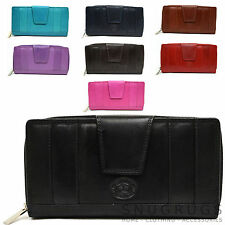 Ladies / Womens Large Leather Matinee Purse with Multiple Features