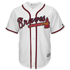 2016 Atlanta Braves MAJESTIC Home (White) Cool Base Replica Jersey Men's