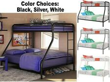 Twin Over Full Size Metal Bunk Bed Beds Heavy Duty Sturdy Kids Bedroom Furniture