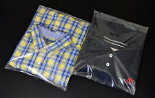 """Clear Poly 12 x 15 Bags T Shirt and Apparel Plastic (25 - 500) with 2"""" Flap Lock"""
