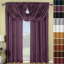 Soho Rod Pocket Panels or Waterfall valance Window Treatment !