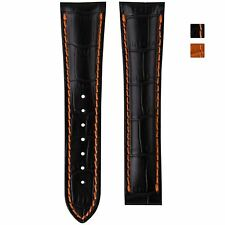 Geckota Genuine Leather Watch Strap for Omega Watches Crocodile 20, 22mm