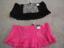 Size S-XL Apt 9 Skirted Thongs, Beet Pink or Black/Leopard