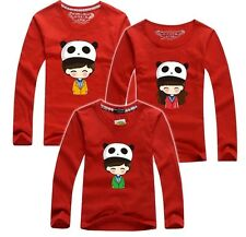 Family Outfit Matching Set for Mom Dad Child New 100% Cotton Long Sleeve T-Shirt