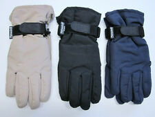 New Mens fleece lined winter commuter / driving gloves w/ Thinsulate insulation