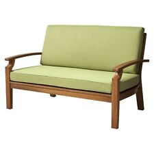 Smith & Hawken® Brooks Island Wood Patio Loveseat