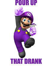 Super mario funny shirt drank lean purple sizzurp lil wayne ross khalifa juicy j