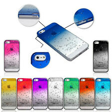 """Raindrop WaterDrop Clear Transparent Case Cover For iphone 4 4S 5 5C 5S 6 4.7"""""""