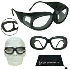 Z87 Motorcycle Fit Over Glasses Goggles Safety Clear Night Riding Cyling Sports